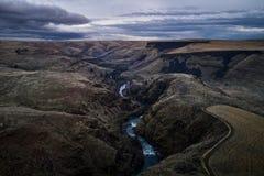 White River faller Oregon Royaltyfri Fotografi