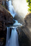 White River Falls in Sun Stream Royalty Free Stock Photo