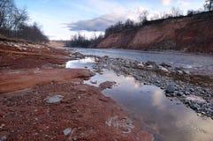 White River i Kaukasuset Arkivbilder