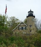 White River Lighthouse on A Rainy Day Royalty Free Stock Images