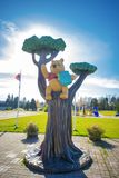 WHITE RIVER, ONTARIO, CANADA - OCT 20, 2017: View of Winnie the. Pooh statue in the town of White River where the classic children`s stories was found by Harry Royalty Free Stock Photo