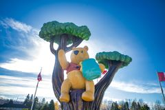 WHITE RIVER, ONTARIO, CANADA - OCT 20, 2017: View of Winnie the. Pooh statue in the town of White River where the classic children's stories was found by Harry Stock Image