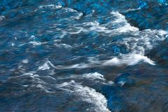 White River rapids. Background or texture White waves River rapids Stock Photography