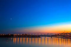 White river, Ufa, Bashkortostan, Russia royalty free stock photo