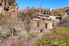 Ruins of a hydropower plant at White River State Park Royalty Free Stock Photos