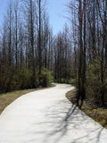 White road. Curved walking path on the Silver Comet trail Powder Springs Georgia Stock Image