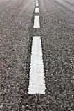 White Road Marks - Vertical Royalty Free Stock Photos