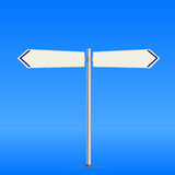 White road sign Stock Photography