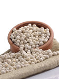 White roasted chickpeas Royalty Free Stock Image