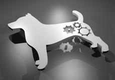 White robot dog Stock Image