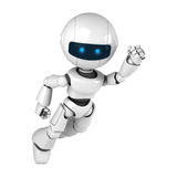 White robot fly Royalty Free Stock Photography