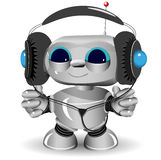 White robot headphones Royalty Free Stock Images