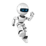White robot jump Royalty Free Stock Photo