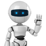 White robot say hello Stock Image