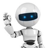 White robot show ok Royalty Free Stock Photo
