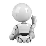 White robot sit back Stock Photography