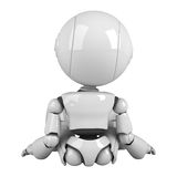 White robot sit back Royalty Free Stock Photography
