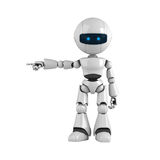 White robot stay Royalty Free Stock Images