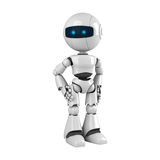 White robot stay Stock Image