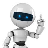 White robot stay Royalty Free Stock Photography