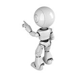 White robot stay back Royalty Free Stock Photos