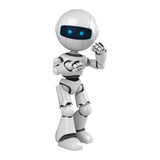White robot stay in fighting pose. A funny white robot stay in fighting pose Stock Photography