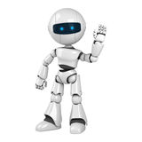 White robot stay sign hello Stock Photos