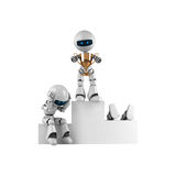 White robot stay with trophy Royalty Free Stock Photo