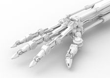 White Robotic Hand Stock Image