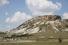 White Rock or Ak-Kaya in the Crimea Stock Photos