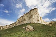 White Rock Ak-Kaya in Crimea Stock Images