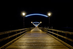 White rock bc pier at night royalty free stock photo