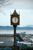 Old Clock in White Rock Beaches Royalty Free Stock Images