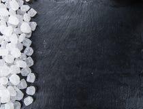 White Rock Candy on a slate slab Stock Image