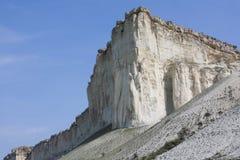 A white rock is in Crimea. White rock in Crimea in spring Stock Photo