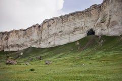White Rock in Crimea. Mount Ak-Kaya. Royalty Free Stock Photo
