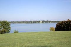 White rock lake in city Dallas. White rock lake has seen from Dallas Arboretum, TX USA Stock Photography