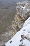 White rock. Legendary white rock in crimea in winter Stock Image