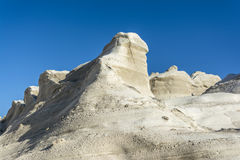 White Rock near the sea of Sarakiniko area, Milos island, Greece stock images