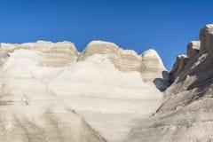 White Rock near the sea of Sarakiniko area, Milos island, Greece Royalty Free Stock Photo