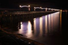 White Rock Pier Night, British Columbia Stock Photo