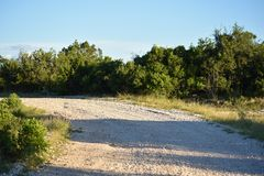 White Rock Road. Curve on a mountain royalty free stock photos
