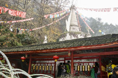 White rock temple in sichuan,china. White rock temple is taken in sichuan,china royalty free stock photos