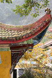 White rock temple in sichuan,china Royalty Free Stock Images