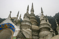 White rock temple in sichuan,china Stock Photography