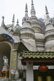 White rock temple in sichuan,china Royalty Free Stock Photography