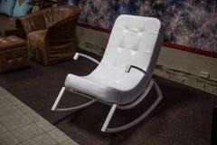 White rocking chair Stock Photos