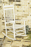 White Rocking Chair Stock Photography