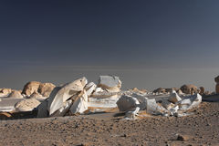 White rocks in Libyan desert Stock Photo