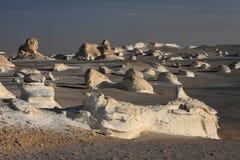 White rocks in Libyan desert Royalty Free Stock Photos